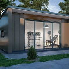 Discover recipes, home ideas, style inspiration and other ideas to try. Garden Room, Gym Shed, Gym Room At Home, Outdoor Rooms, Summer House Garden, Outdoor Spa, Pool Houses, Backyard Gym, Contemporary Garden Rooms