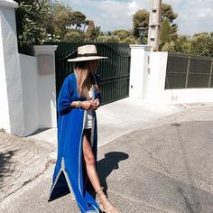 """""""Blue...Shop by email at bakchicshop@gmail.com #kaftan #bakchic #love #fashion #summer #frenchriviera"""" Photo taken by @bakchic_thelabel on instagram"""