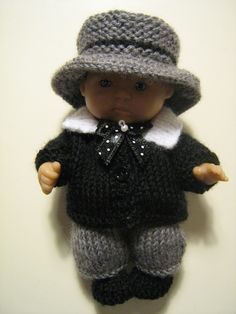 """Groom outfit for 5"""" Berenguer doll."""