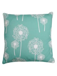 Dandelion Glitter Print Pillow by THRO by Marlo Lorenz at Gilt