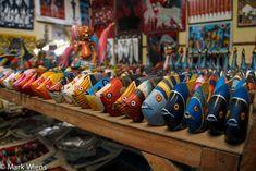 Famous Tinga Tinga wood carving art of Tanzania