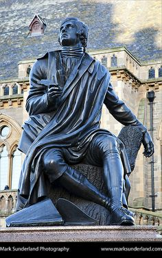Robert Burns Statue in Albert Square Dundee Scotland