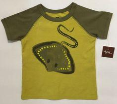 Tea-Collection-Graphic-Tee-Shirt-18-24-M-Boy-100-Cotton-Rad-Ray-Green-Manta-Ray