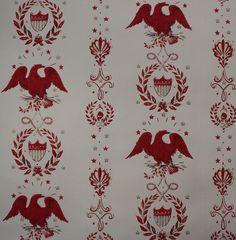 Rosie's Vintage Wallpaper - Eagles Americana Red Vintage Wallpaper, $95.00 (http://www.rosiesvintagewallpaper.com/eagles-americana-red-vintage-wallpaper/)