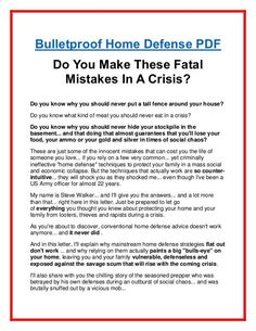 Fast act releases new survival kit for preppers and survivalists bulletproof home defense pdf free download fandeluxe Choice Image