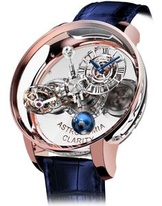 Leave it to Jacob & Co. founder Jacob Arabo to conceive a Gravitational Triple Axis Tourbillon and encase it in transparent sapphire. The dome-shaped crystal top of the Astronomia Clarity Rose … Amazing Watches, Beautiful Watches, Cool Watches, Stylish Watches, Luxury Watches For Men, Cartier, Tourbillon Watch, Skeleton Watches, Expensive Watches