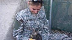 Soldada em serviço no Afeganistão se apaixona por gato e faz tudo para adotá-lo