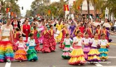 Old Spanish days in Santa Barbara August 5 every year. Interesting parade, food, dancing, singing.  Viva la Fiesta!
