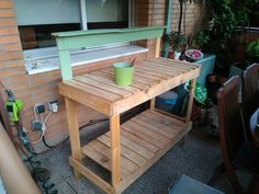 Manualidades Plus Greenhouse Benches, Table, Furniture, Home Decor, Mesas, Manualidades, Decoration Home, Room Decor, Tables