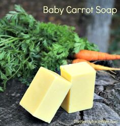 How to Make Baby Carrot Soap - This makes a nice, mild soap that's ideal for sensitive skin (or people with skin conditions)