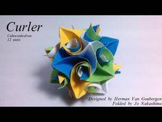 Origami Curler Cuboctahedron (Herman Van Goubergen) - YouTube