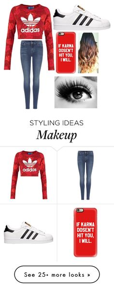 """"""""""" by mariana4703 on Polyvore featuring adidas Originals, 7 For All Mankind, adidas and Casetify"""