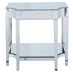 mirrored side table $330.