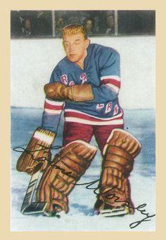 Parkhurst Lorne Worsley New York Rangers RC Rookie Hockey Card Rangers Hockey, Hockey Goalie, Hockey Highlights, Stars Hockey, Goalie Mask, Star Wars, Hockey Cards, Sports Figures, National Hockey League