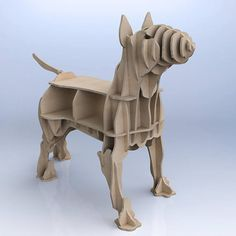 CNC cutting templates for plywood bull terrier bookshelf