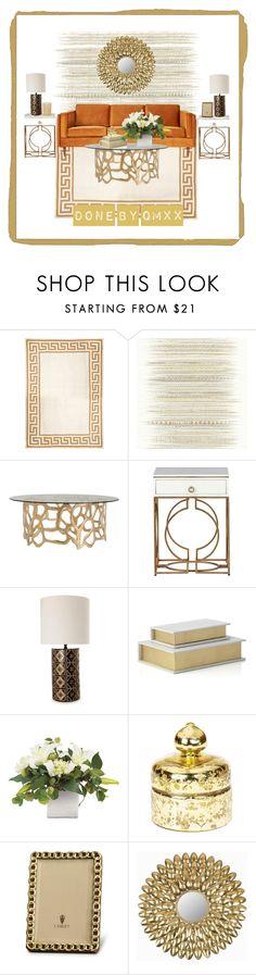 """GOLD Gold Gold VO2"" by qqamrah on Polyvore featuring interior, interiors, interior design, home, home decor, interior decorating, Jonathan Adler, Élitis, Arteriors and Gabby"