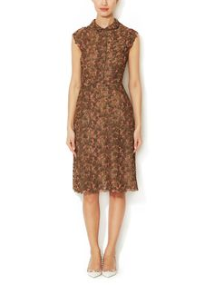 Metallic Embroidered Sheath Dress by Valentino
