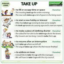 Resultado de imagem para Phrasal verbs with images to share
