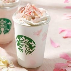 White chocolate cherry only at Starbucks Japan