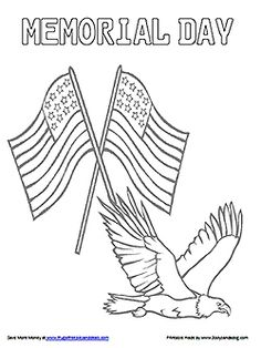 Memorial Day Coloring Pages   Many Sheets And Pictures To Color. | ~  Seasonal Arts/crafts/decor | Pinterest | Sunday School, Kid Printables And  Patriotic ...