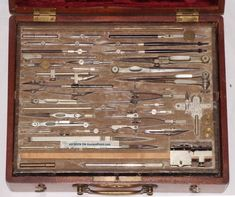 A 19th Century Eo Richter Architect Drawing Instruments – Drafting Tools Antique Engineering photo