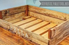 This is a small recycled wooden pallet dog bed for your lovable pet. There is no need to purchase expensive dog beds when you can make one at home by yourself. The rustic color of recycled pallets are making it so lovely.