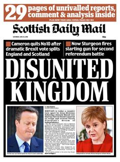 Scottish Daily Mail England And Scotland, Britain, Campaign, Politics, Daily Mail, Newspaper, June, Textiles, History