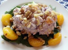 Cranberry Rice Salad i will make it with frozen cranberries, fresh clementines, and real whipped cream. yummy!