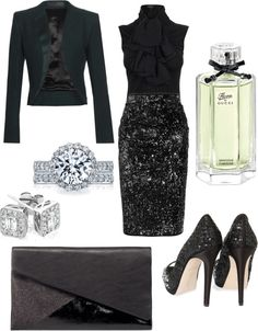 A fashion look from December 2012 featuring high-neck blouses, long sleeve jacket and sequin jersey. Browse and shop related looks. Girls Dream Closet, Southern Girls, Dressed To The Nines, Holiday Parties, Diy Clothes, Passion For Fashion, Jewlery, Dress Up, Formal Dresses