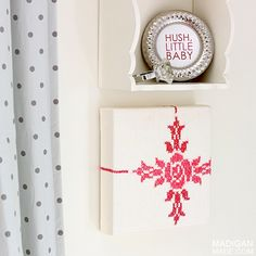 Make very easy DIY wall art using embroidered vintage fabric - you'll have unique home decor in minutes.