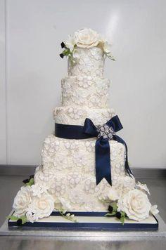 #Navy #Blue #Wedding #cake