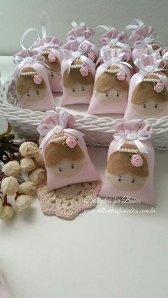Sachê Bailarina - Dellicatess for Babies Felt Crafts, Diy And Crafts, Crafts For Kids, Ballerina Birthday, Baby Shawer, Lavender Bags, Ideas Para Fiestas, Shower Gifts, Party Favors