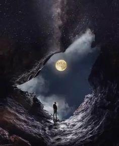 Beautiful Love Pictures, Beautiful Photos Of Nature, Beautiful Fantasy Art, Beautiful Moon, Dark Fantasy Art, Moon Photography, Surrealism Photography, Wolf World, Motion Images
