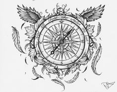 Compass Tattoo Idea.