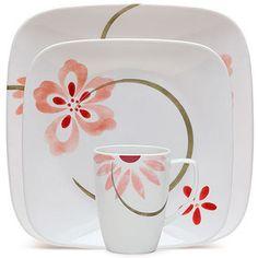 Corelle Squares Pretty Pink 32-Piece Dinnerware Value Bundle.  $99 at Walmart.