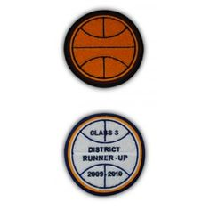 basketball letter jacket patch customizable to include felt colors and text for your school or organization