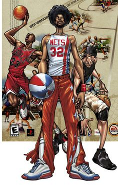 J and the GOAT Michael Jordan video game featuring Dr. J and the GOAT Michael Jordan. Street Basketball, Basketball Pictures, Basketball Shirts, Love And Basketball, Basketball Legends, Sports Basketball, Sports Art, Basketball Players, Basketball Videos