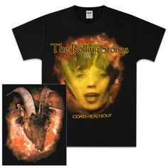 Check out Rolling Stones Goat's Head Soup Face Black T-Shirt on @Merchbar.