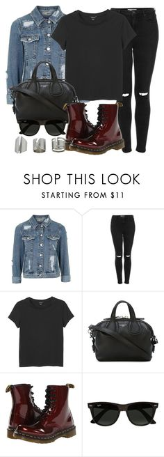 """Style #11208"" by vany-alvarado ❤ liked on Polyvore featuring Topshop, Monki, Givenchy, Dr. Martens and Ray-Ban"