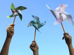 Cool project from http://www.kiwicrate.com/projects/Paper-Pinwheels/548: Paper Pinwheels