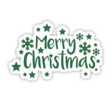 Merry Christmas greeting Sticker