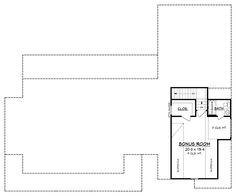 Farmhouse Style House Plan - 3 Beds 2.50 Baths 2282 Sq/Ft Plan #430-160 Floor Plan - Upper Floor Plan - Houseplans.com