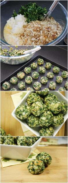 Spinach Balls- I made them on 11/11/13. They were pretty good. Mike approved.