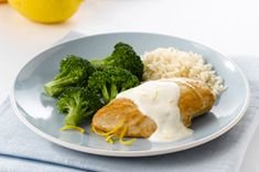Chicken with Creamy Lemon Sauce & Rice recipe
