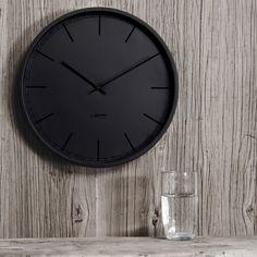 Tone Black Wall Clock 35cm - Available in other colours, see the link for more information