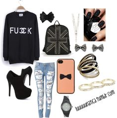 """fck"" by luisanalarivanzola on Polyvore"