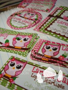 #owl #buho Back to school #BADGE #Personalized  ¡Everybody ready! https://www.facebook.com/invitaciones.bombon