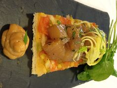 Tartar de Llampuga de Restaurante Bruno, en Port Adriano