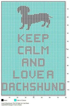 LOVE A DACHSHUND by LISA DAVIS -- WALL HANGING