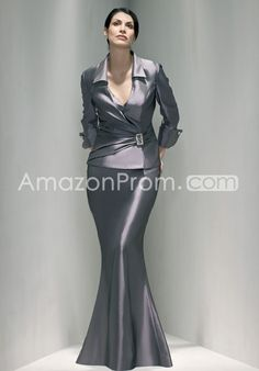 c029371449 Trumpet V-Neck Floor Length Sateen Mother of the Bride Dress Style 5025